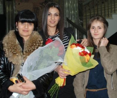 С мамой и сестрой после церемонии награждения лучших спортсменов Осетии.