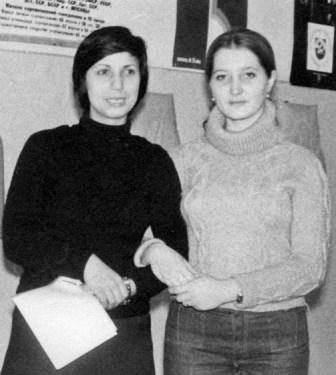 Две подруги, две фехтовальные звездочки Осетии и России - Людмила ЩЕРБИЧ и Наталья РУСЕЦКАЯ.