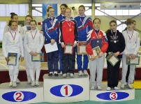 Юные рапиристки Осетии взяли медаль и в командном турнире