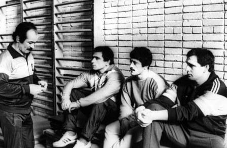 Звездная Осетия в тренировочном зале Ташкента. Слева направо: Казбек ДЕДЕГКАЕВ, Махарбек ХАДАРЦЕВ, Арсен ФАДЗАЕВ, Аслан ХАДАРЦЕВ.