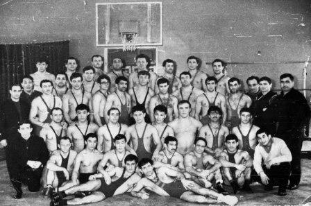 Сбор сильнейших борцов ЦС «Спартак» по вольной борьбе к зональному первенству СССР, г. Чернигов 1968 год.
