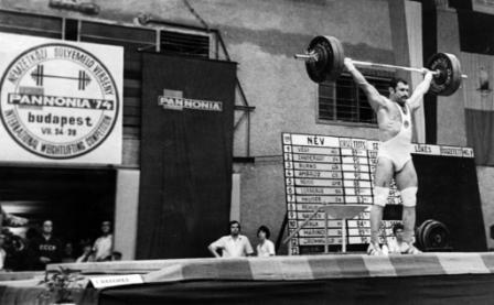 На международном турнире в Будапеште, 1974 год.