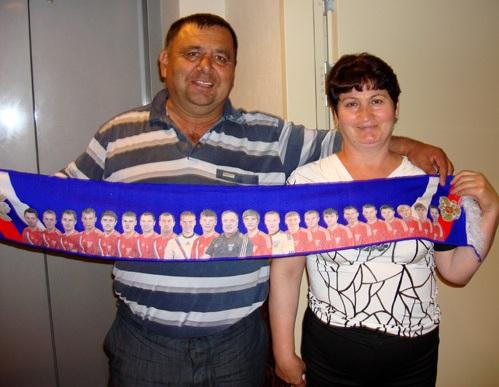 Родители Алана приехали в Варшаву поболеть за любимого сына. Фото Сергея Дадыгина.