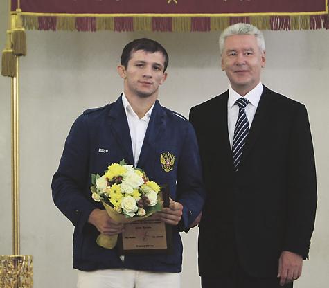С Сергеем Собяниным на чествовании олимпийцев в мэрии Москвы.