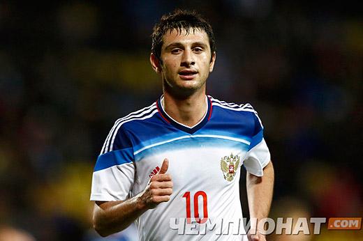 Алан ДЗАГОЕВ сыграл за сборную России один тайм