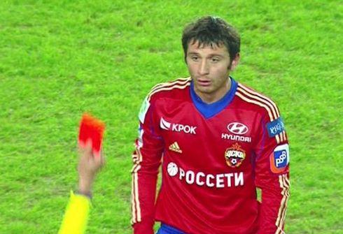 Алан ДЗАГОЕВ отличился дважды: забил и получил очередное удаление