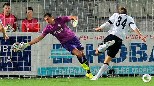 Владимир Габулов, несмотря на пропущенный гол, провел великолепный матч.