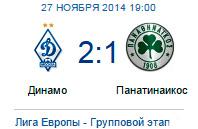 Московское «Динамо» одержало очередную победу в Лиге Европы