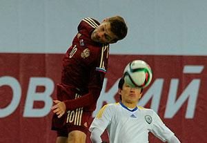 Руслан КАМБОЛОВ дебютировал в сборной России